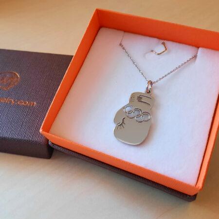 box glove necklace