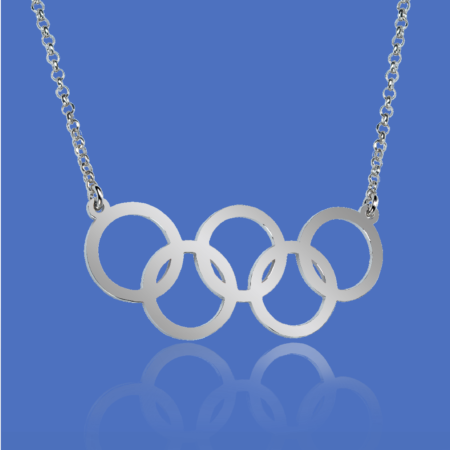 Olympic rings pendant - OLY04