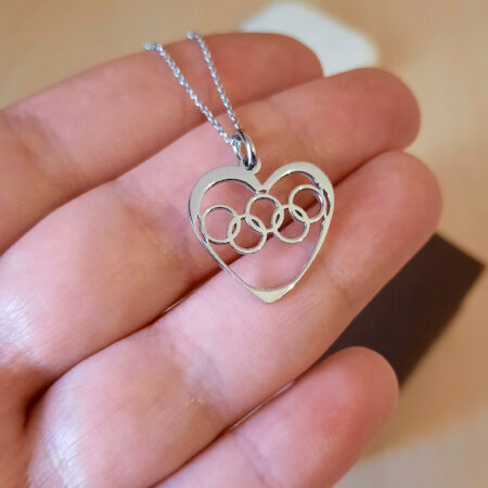 heart necklace for athletes -OLY01