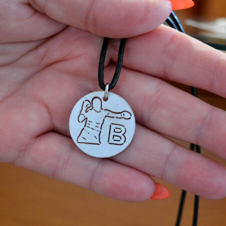 silver men necklace - BXG08